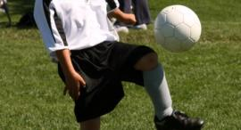 Sean playing soccer